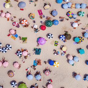 Busy Summer Beach