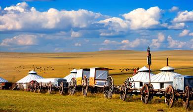 Mongolia nomadic caravan