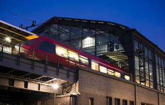 Train travel at night