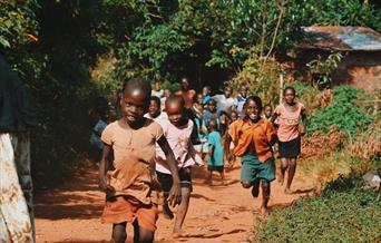 African Children Playing in Village