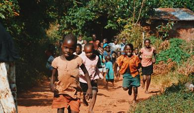 African Children Playing in Village