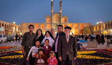 Tourist family in Iran