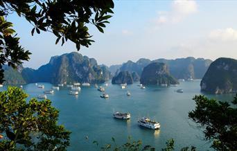 Cruise ships in Halong Bay