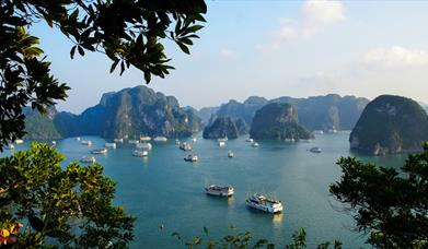Cruise ships in Halong Bay