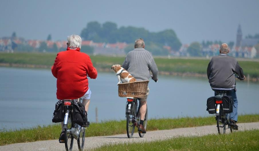 Baby Boomers cycling on holiday