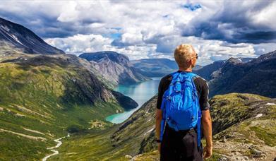 Walking tourism in pristine mountains