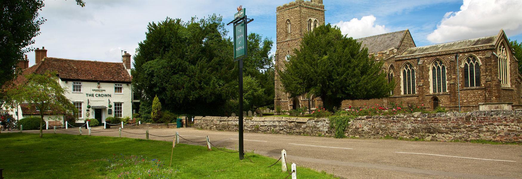 Local church and public house