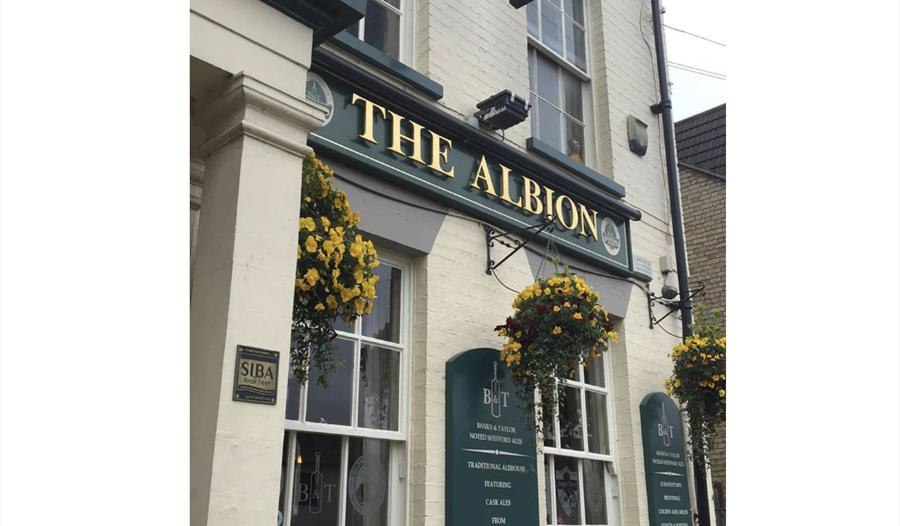 front of the albion pub