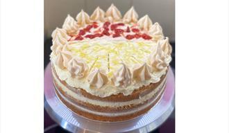 strawberry and lemon cake
