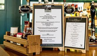 menus on the bar