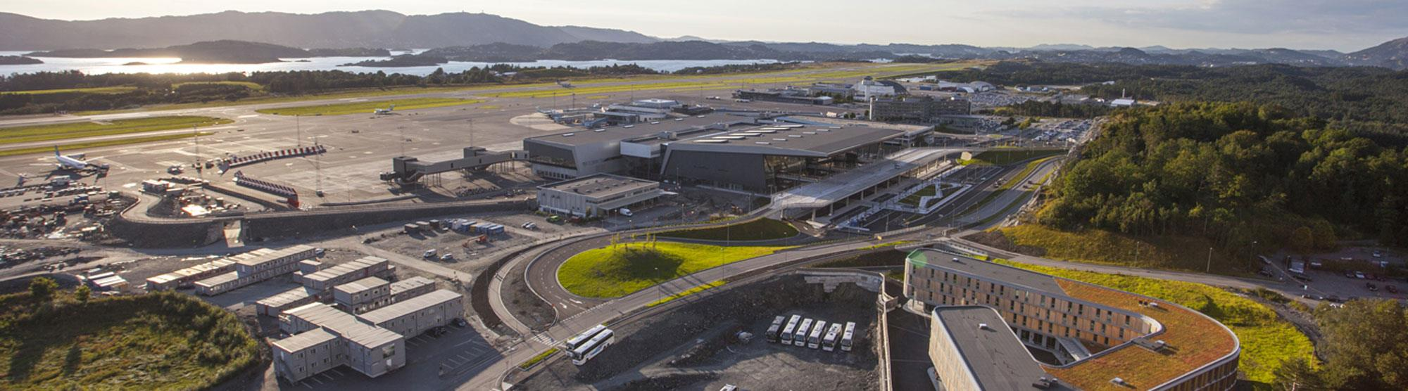 Flughafen Bergen Flesland - Stadtmitte von Bergen