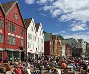 Cafes at Bryggen.