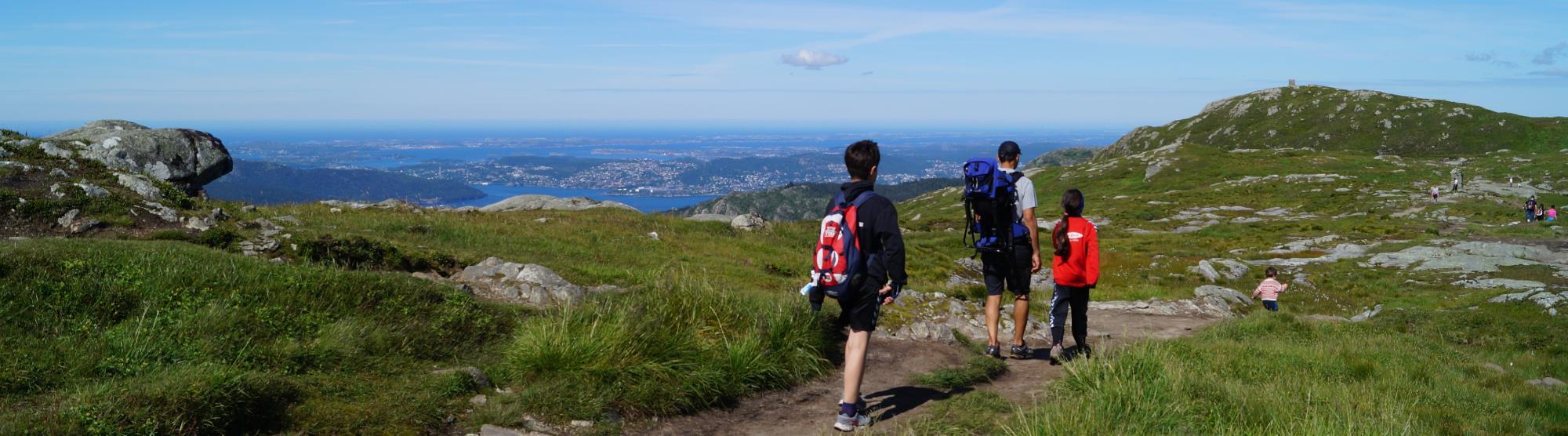 Mountain hike Bergen