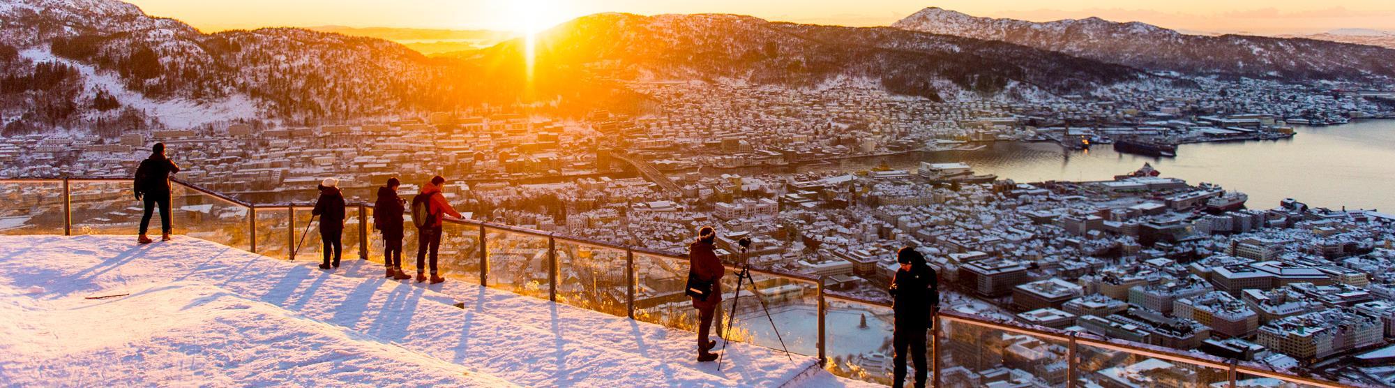 Family activities in winter in Bergen