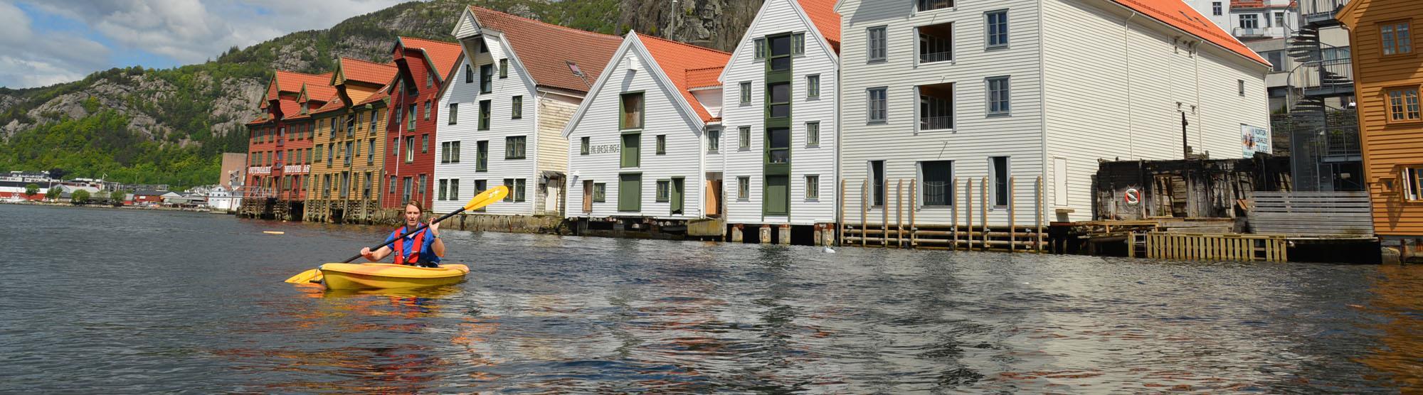 Kayaking in Bergen