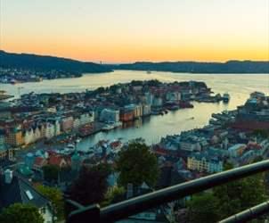 Opplevelser Bergen - utsikt fra Fløyen