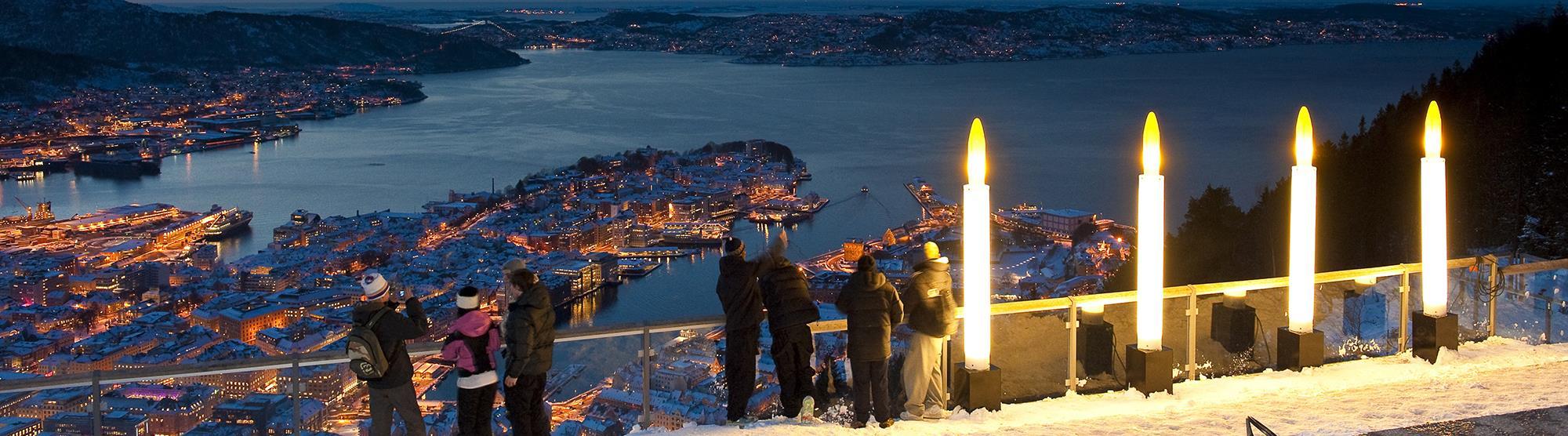 Advent at Mount Fløyen