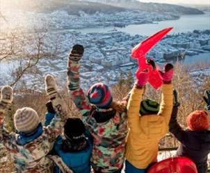 Vinterferie med barn i Bergen - Vannkanten