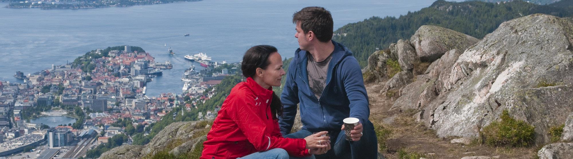 Fjelltur på de syv fjell i Bergen