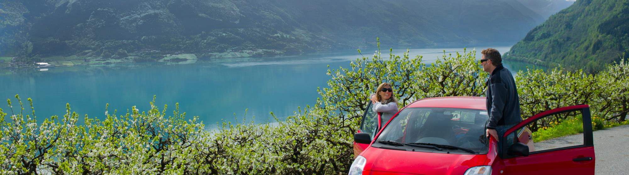 Driving from Bergen to Hardanger