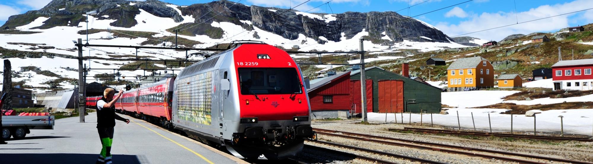 Reis med tog mellom Oslo og Bergen