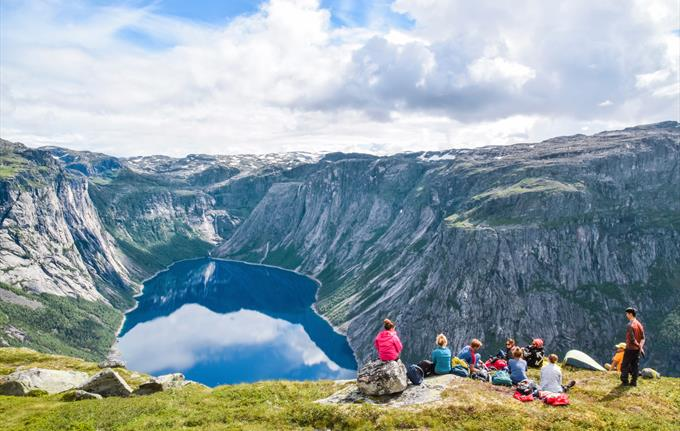Two-day guided hike to Trolltunga (Troll's tongue)