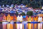 Refleksjoner på Bryggen i Bergen