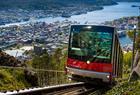 Fløibanen funicular - carriages