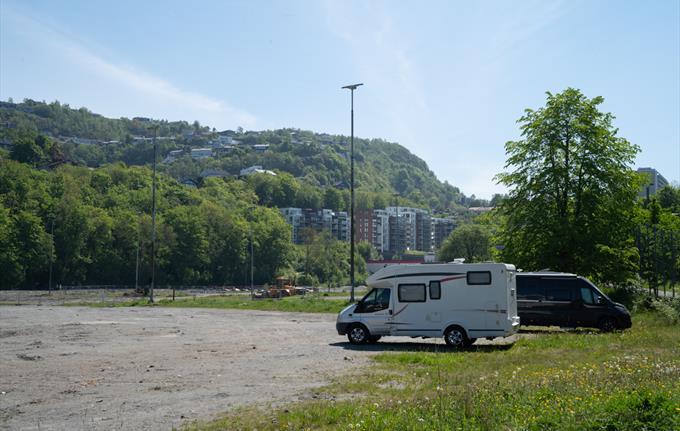 Campervan parking at Slettebakken
