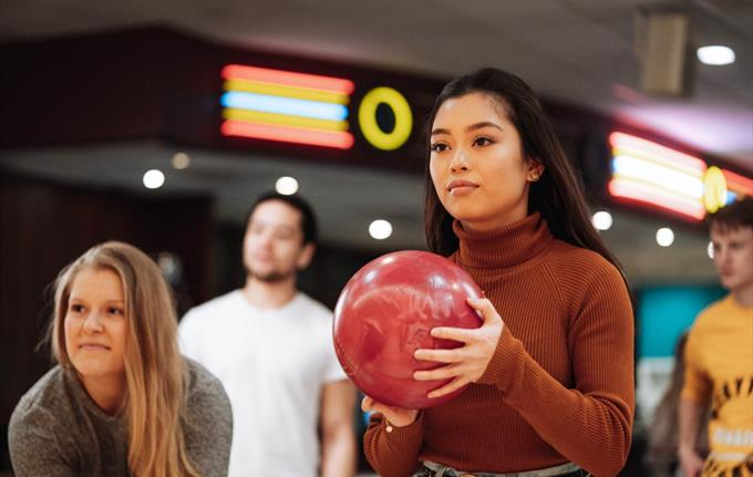 Bowling at Vestkanten shopping mall in Bergen
