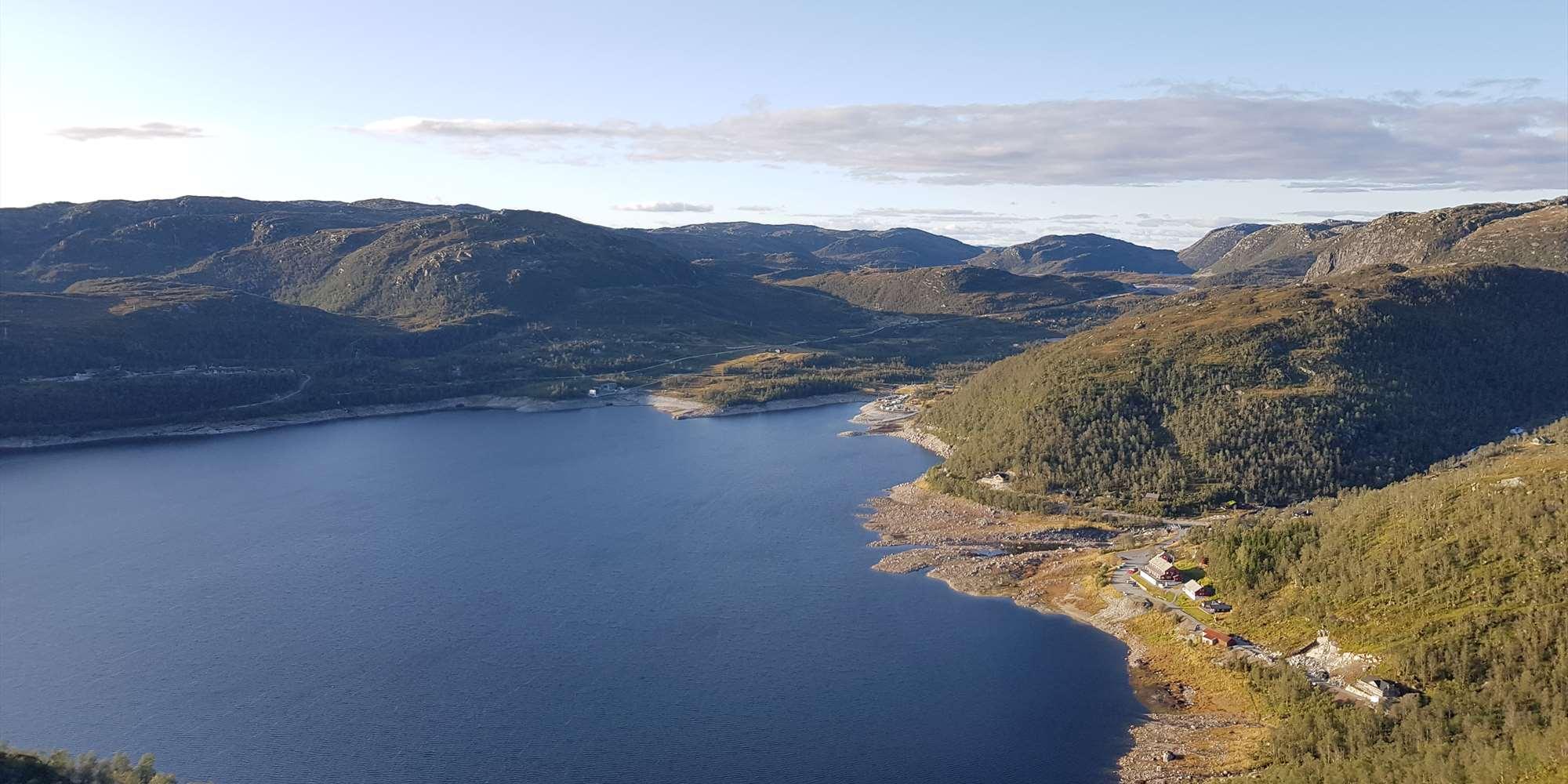 Utsikt fra Husefjellet