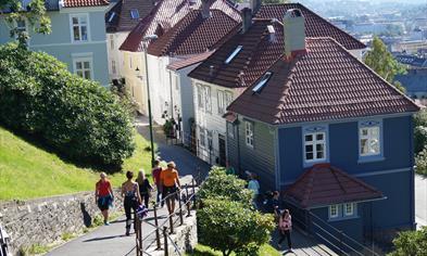 Walking down from Mount Fløyen