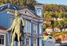 Statue of Ludvig Holberg, famous Norwegian writer