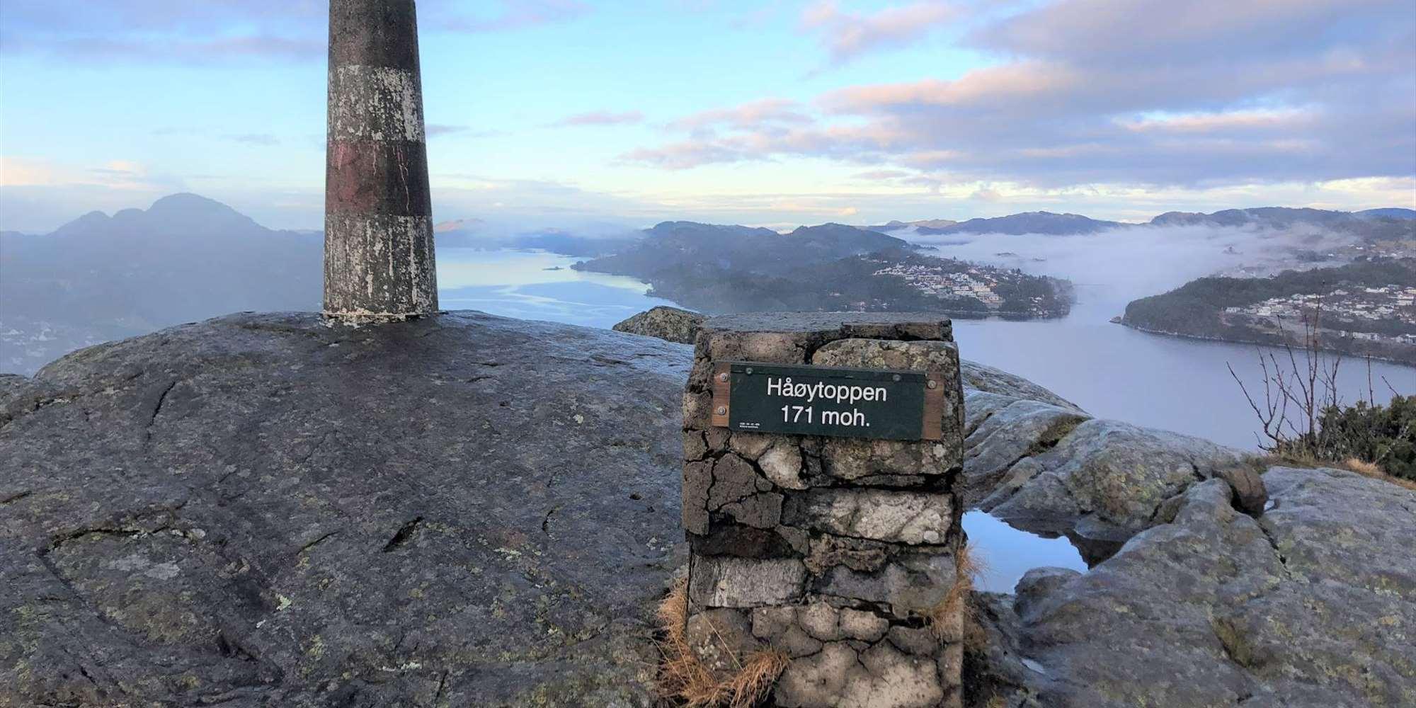 View from Håøytoppen
