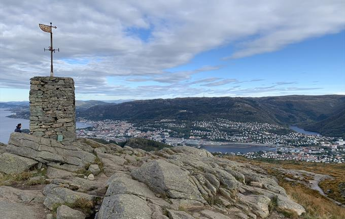 View from the top of Mount Løvstakken