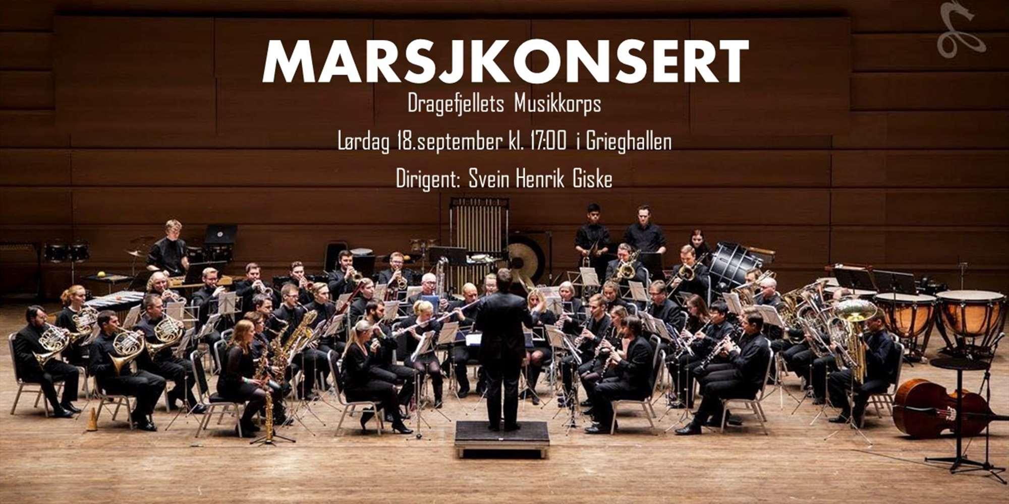 Marsjkonsert med Dragefjellets Musikkorps