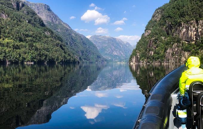 Fjordcruise med rib båt