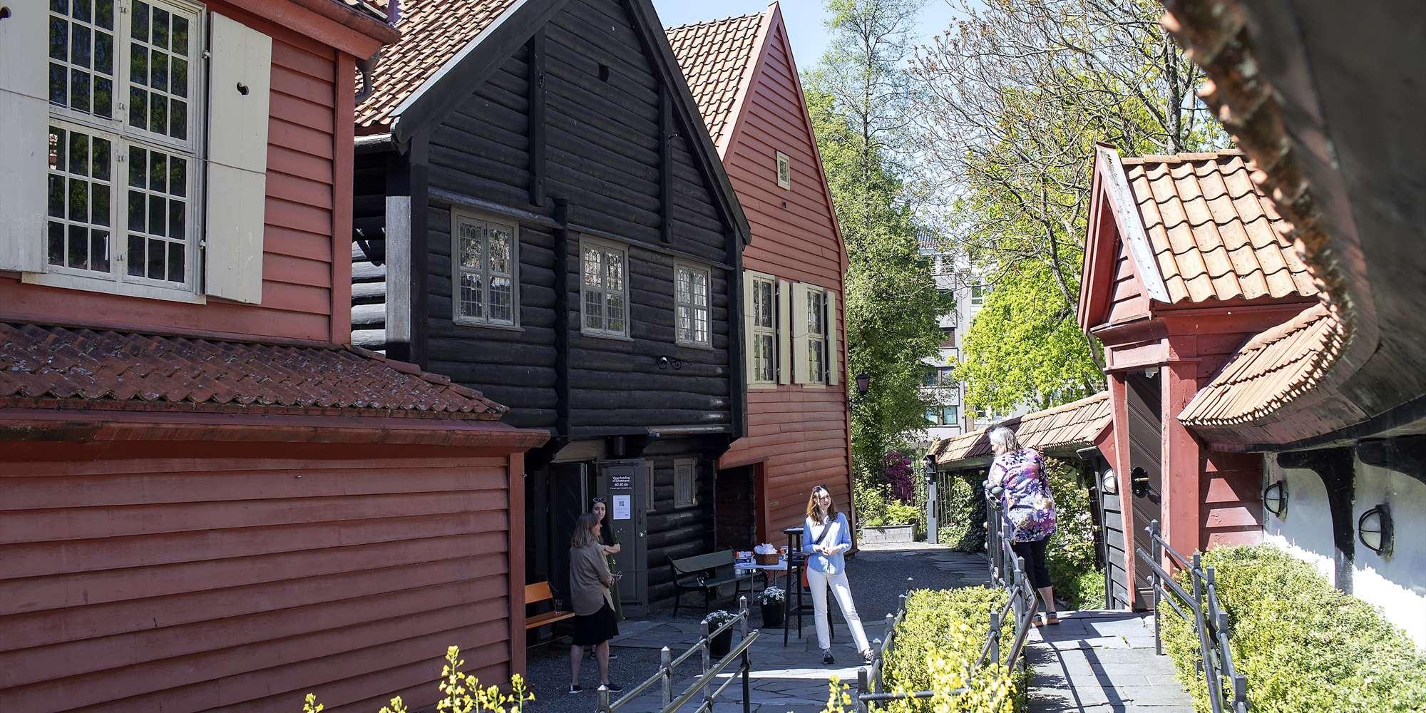 Ved inngangen til Det Hanseatiske Museum og Schøtstuene