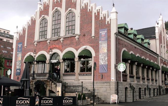 Starbucks Kjøttbasaren i Bergen sentrum