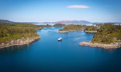 Cruise in the archipelago outside of Bergen