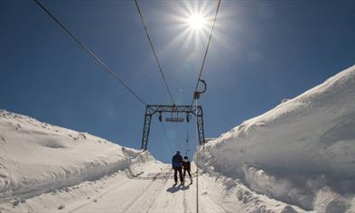 Ski lift at Folgefonna Glacier Ski Resort