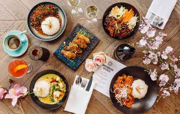 Siamais bottomless brunch Brindleyplace