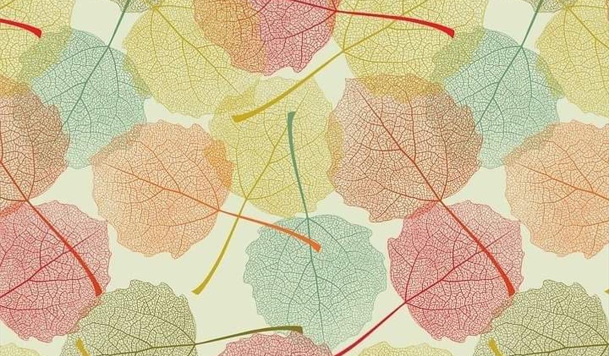 Autumn colours leaf printing