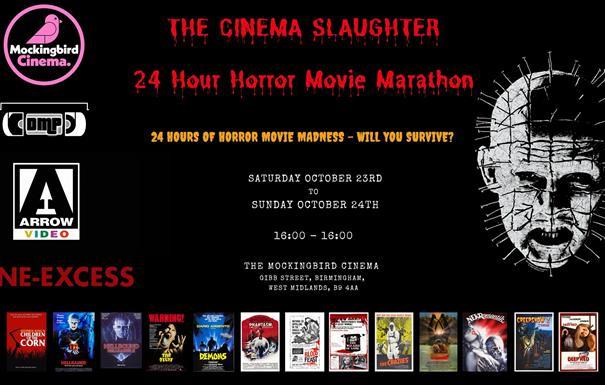 24 HOUR Horror Movie Cinema Marathon
