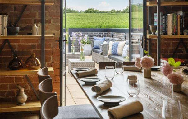 Pensons Restaurant garden view