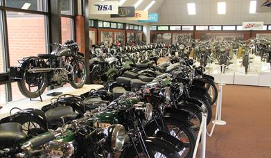 The National Motorcycle Museum hall