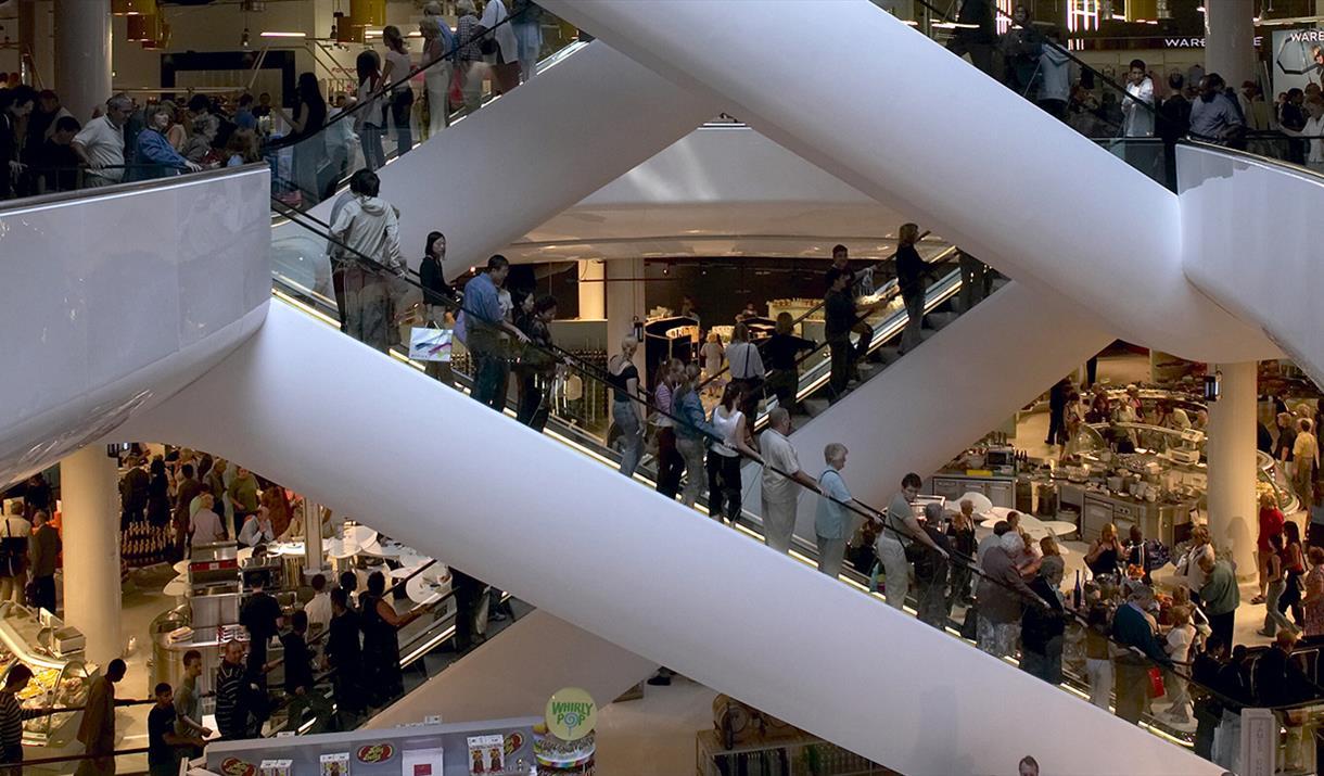 Selfridges escalator