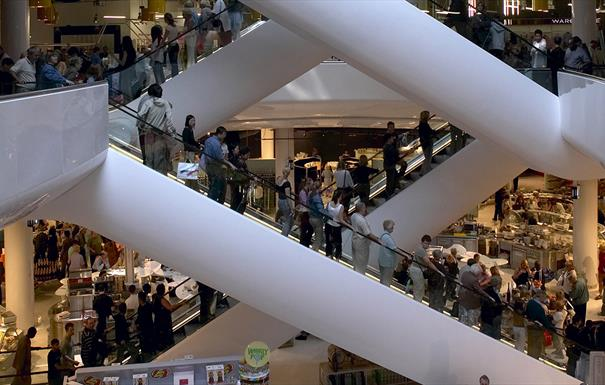 Selfridges escalator