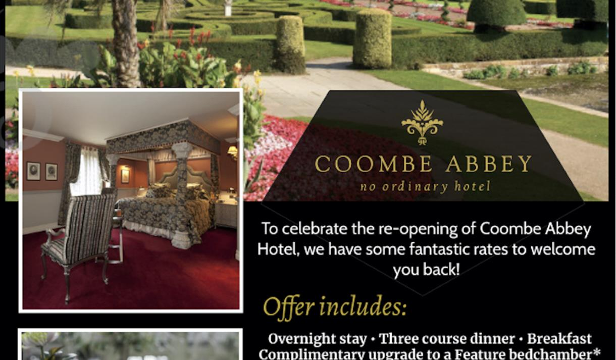 Coombe Abbey Welcome Back Offer