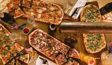Flight Club Birmingham pizza